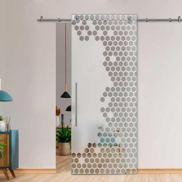 Glass Barn Door (Model SGD-V2000-0250 Semi-Private)