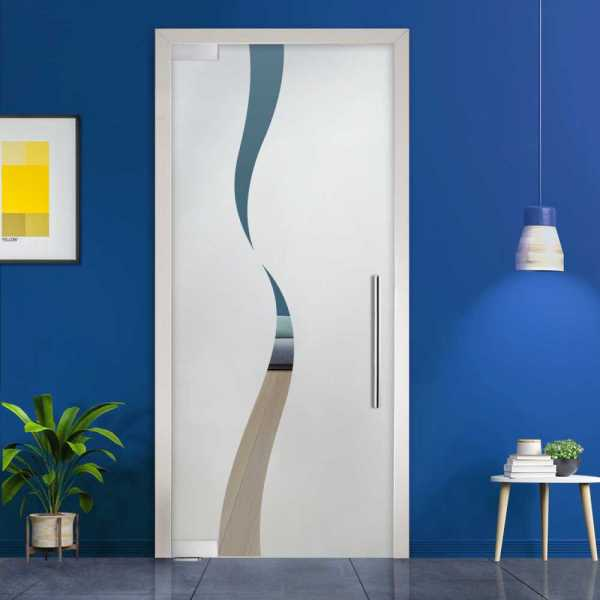 Pivot Glass Door (Model PD-0066 Semi-Private) with Handle Bar