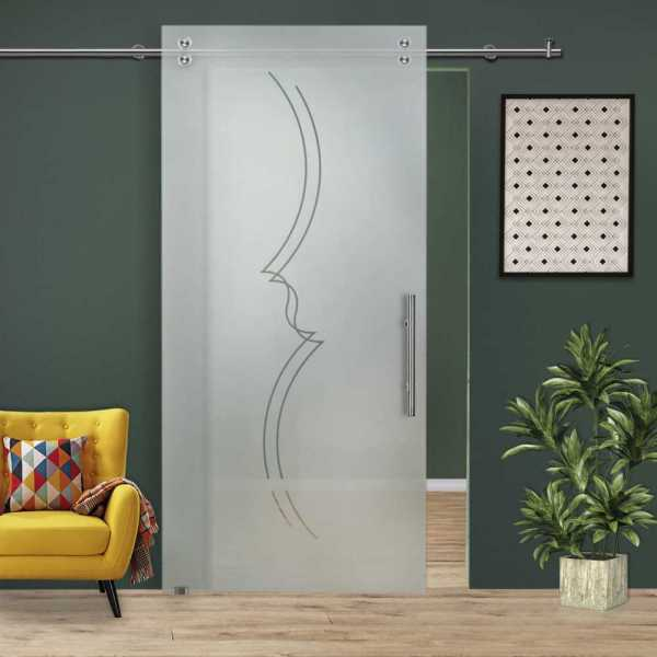 Glass Barn Door (Model SGD-V2000-0025 Semi-Private)