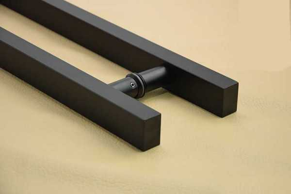 Matte Black Stainless Steel Handle For Glass Door