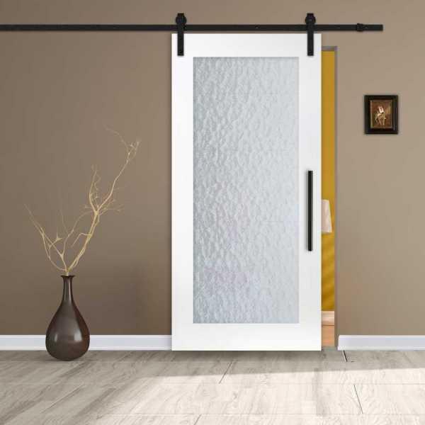 1 Lite MDF Sliding Barn Door with Aquatex Insert WGD-0017