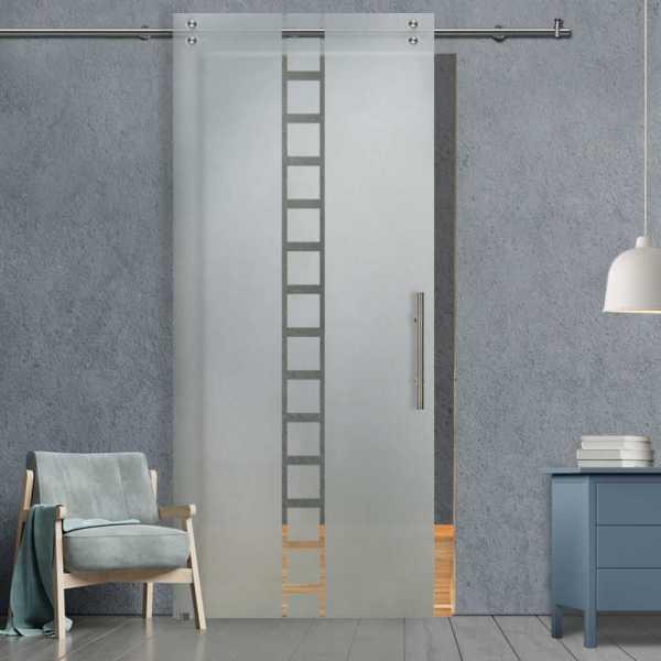 Glass Barn Door (Model SGD-V2000-0021 Semi-Private)