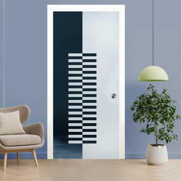 Pocket Glass Barn Door (Model PSGD-0022 Semi-Private)