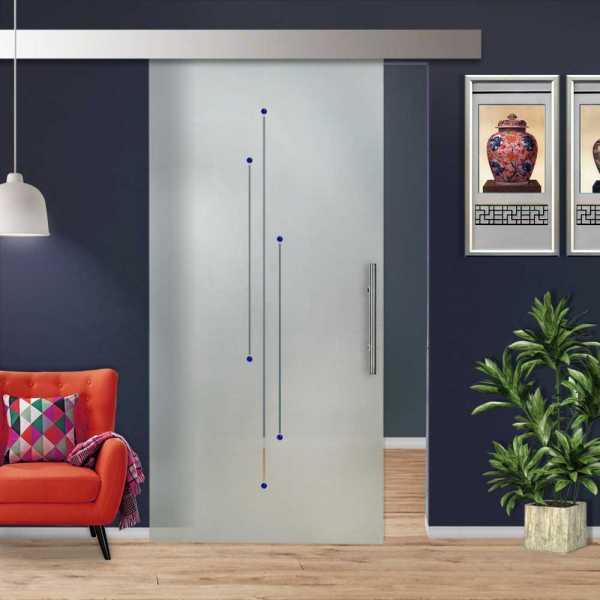 Glass Barn Door (Model SGD-ALU100-0219 Semi-Private)