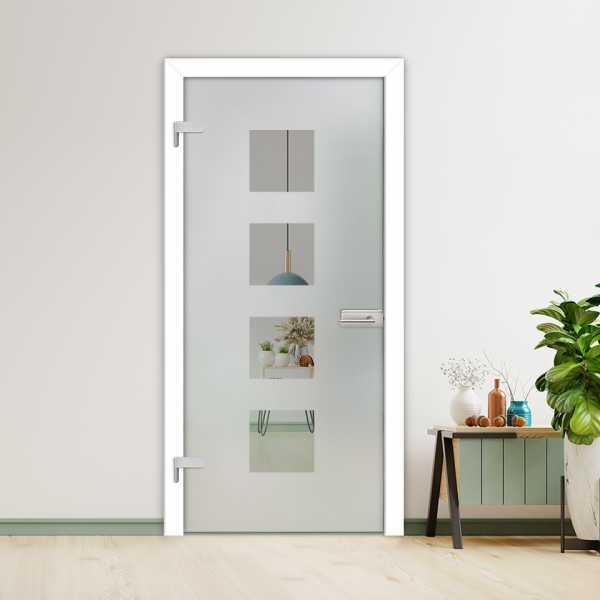 Hinged Glass Door HGD-H+H-0043