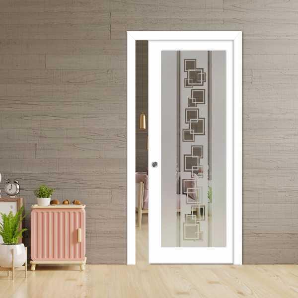 Glass Barn Door (Model PWGD-0014 Semi-Private)_Recessed Grip Handle