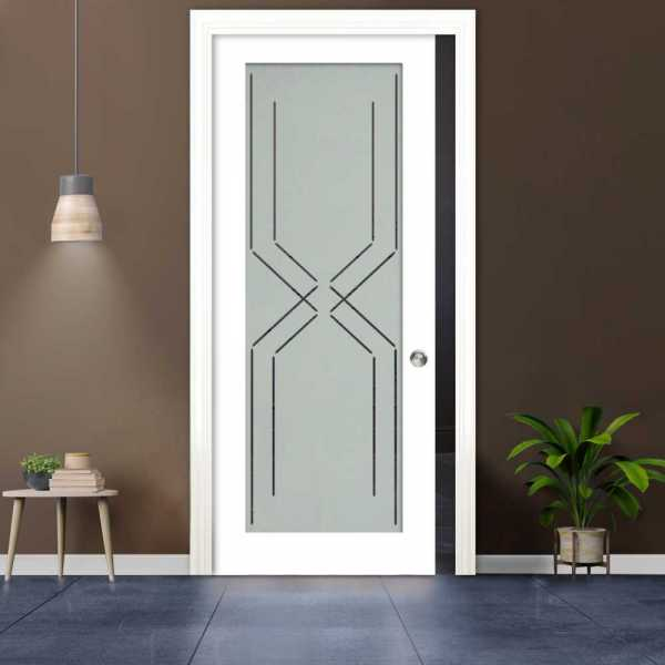 Glass Barn Door (Model PWGD-0015 Semi-Private)_Recessed Grip Handle