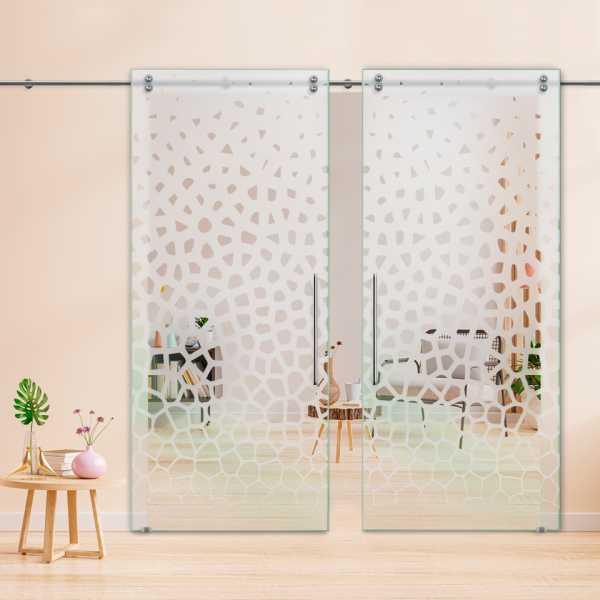 Glass Barn Door (Model DSGD-V2000-0051 Semi-Private)