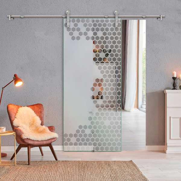 Glass Barn Door (Model SGD-V1000-0010 Semi-Private)