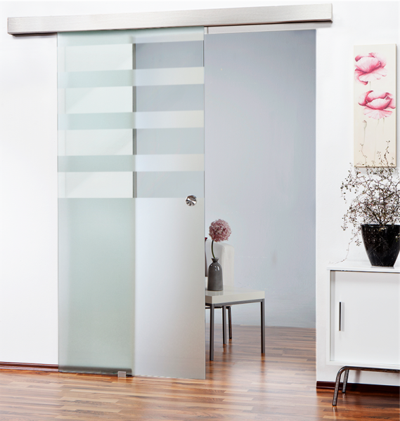 Glass Barn Door (Model SGD-ALU100-0118 Semi-Private)