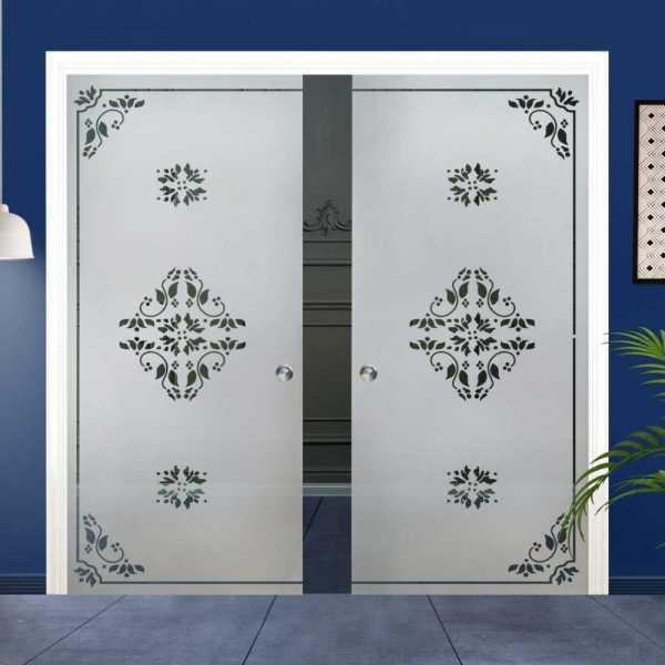 Double Pocket Glass Barn Door (Model DPSGD-0022 Semi-Private)_Recessed Grip Handle