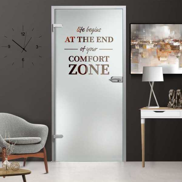 Hinged Glass Door (Model HGD-H+H-0046 Semi-Private)