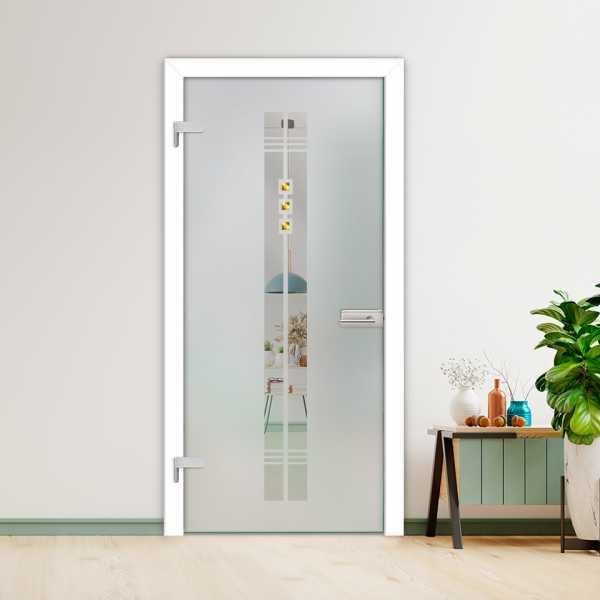 Hinged Glass Door (Model HGD-H+H-0040 Semi-Private)