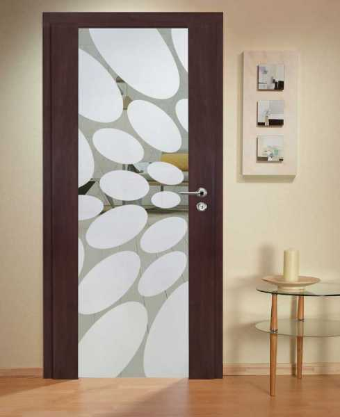 Solid Wood Hinged Door with Glass Insert HWDI-0024