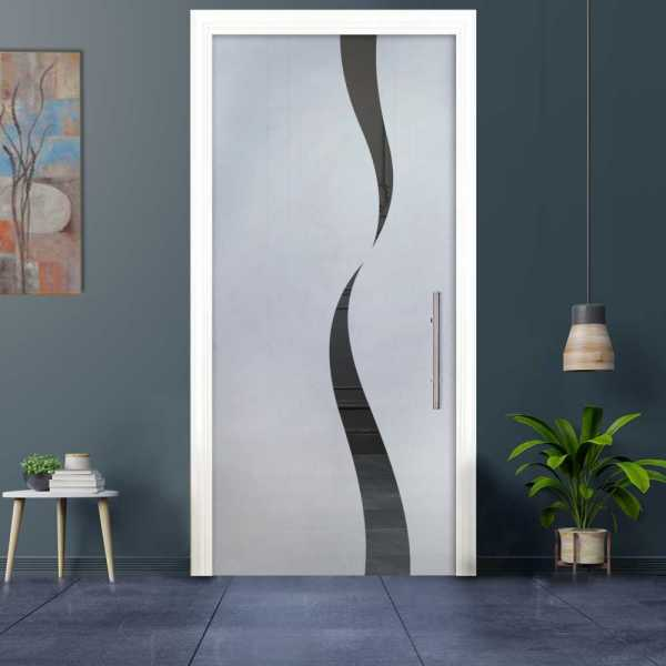 Sliding Pocket Glass Door with Frosted Design and Hardware PSGD-0036