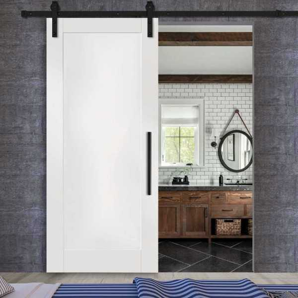 Sliding MR MDF shaker barn door with carbon steel sliding system