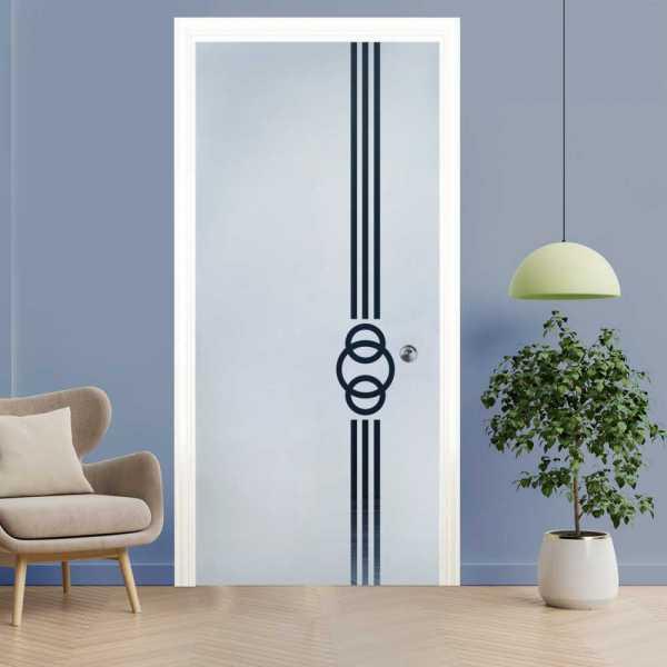 Pocket Glass Barn Door (Model PSG)D-0065 Semi-Private