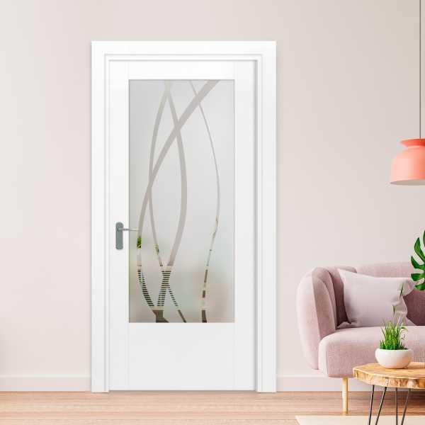 MDF Hinged Doors with Glass Insert HMDI-0006