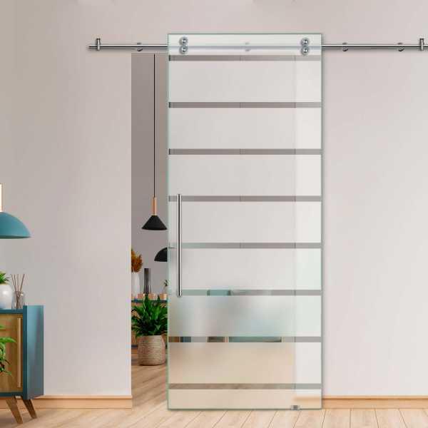 Glass Barn Door (Model SGD-V2000-0075 Semi-Private)