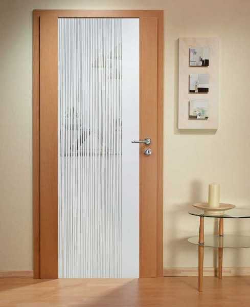 Solid Wood Hinged Door with Glass Insert HWDI-003