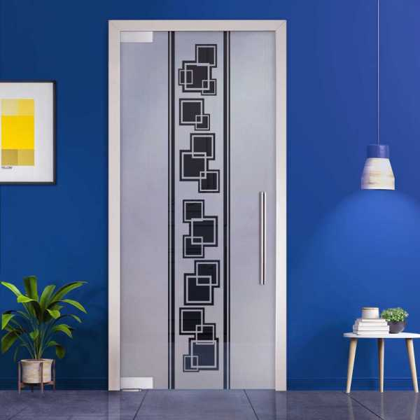 Pivot Glass Door (Model PD-0028 Semi-Private) with Handle Bar