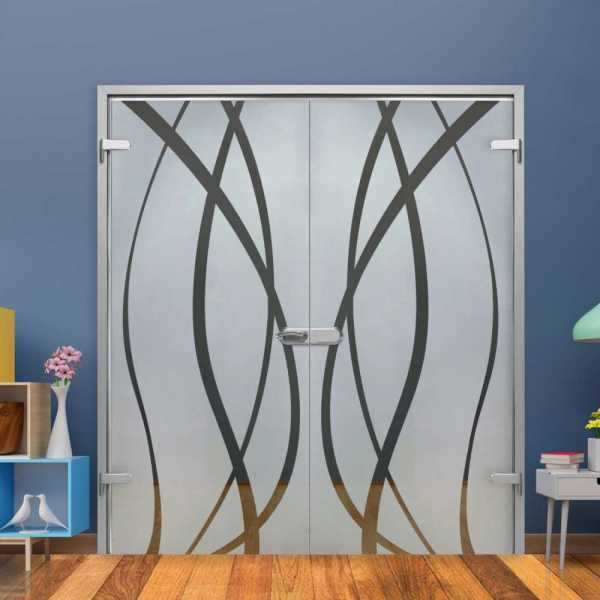 Double Hinged Glass Door (Model H-H+DHGD-0011 Semi-Private)