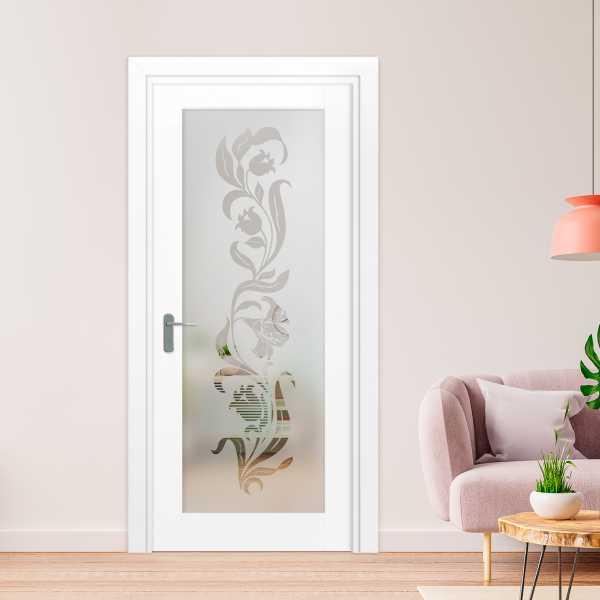 1 Lite Interior Door with Glass Insert (Model 1LID-0005 Semi-Private)