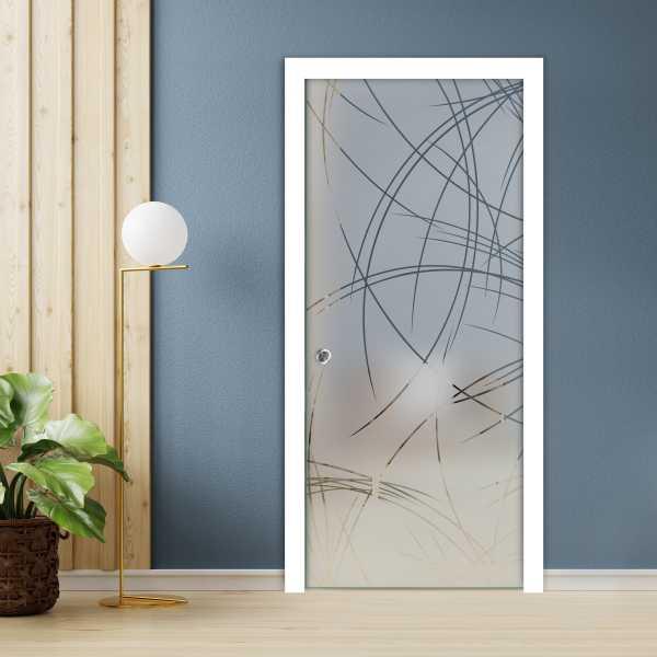 Pocket Glass Barn Door (Model PSGD-0089 Semi-Private)