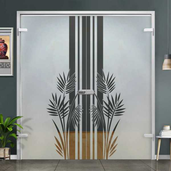 Double Hinged Glass Door (Model H-H+DHGD-0014 Semi-Private)