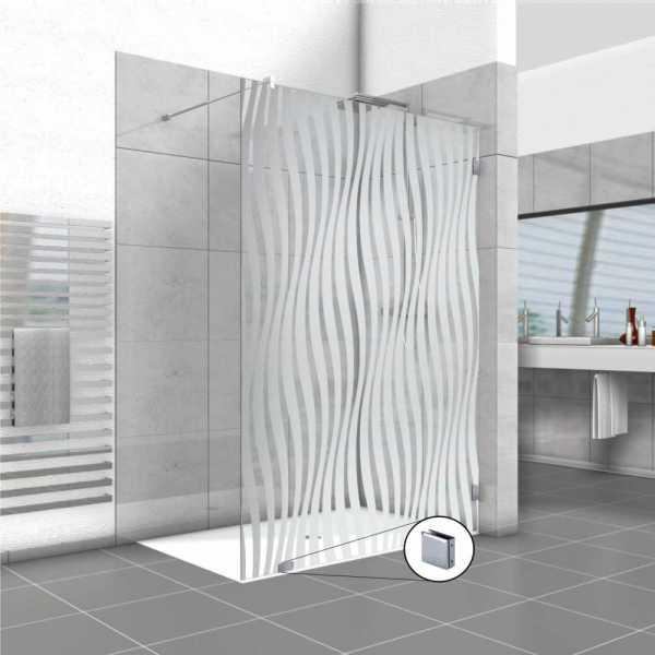 Frameless Fixed Shower Glass Panel FSS-0022