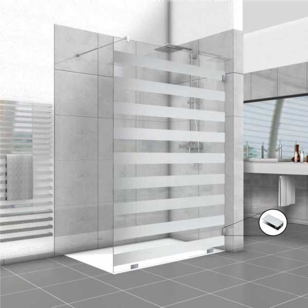 """2x Fixed Shower Screen, 29'' X 71"""" and 47'' X 71"""" , Left Opening and Semi-Private Design"""