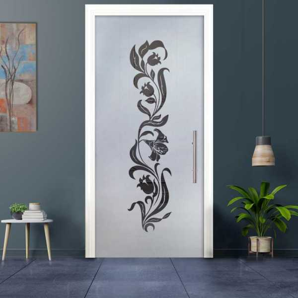 Sliding Pocket Glass Door with Frosted Design and Hardware PSGD-0029