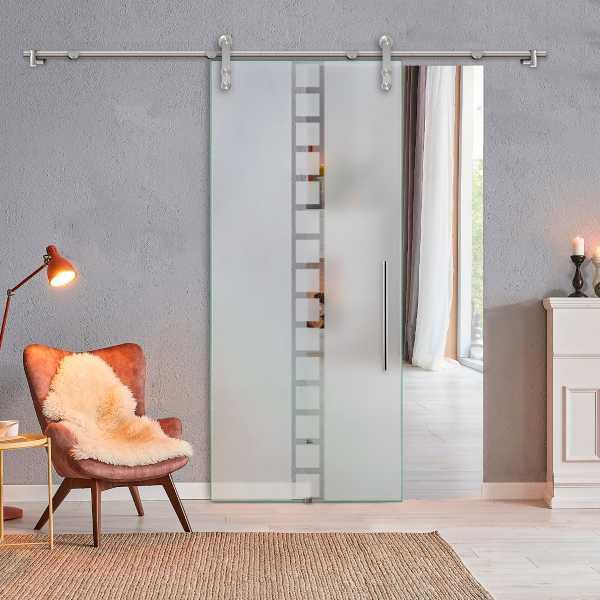 Single Sliding Glass Barn Door SGD-V1000-0243