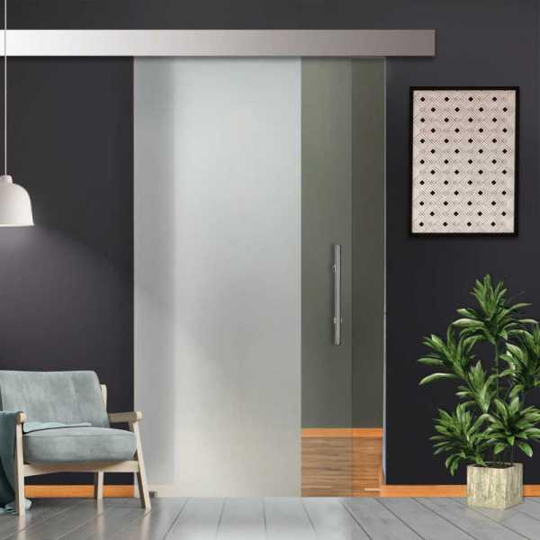 Glass Barn Door (Model SGD-ALU100-0077 Full-Private)