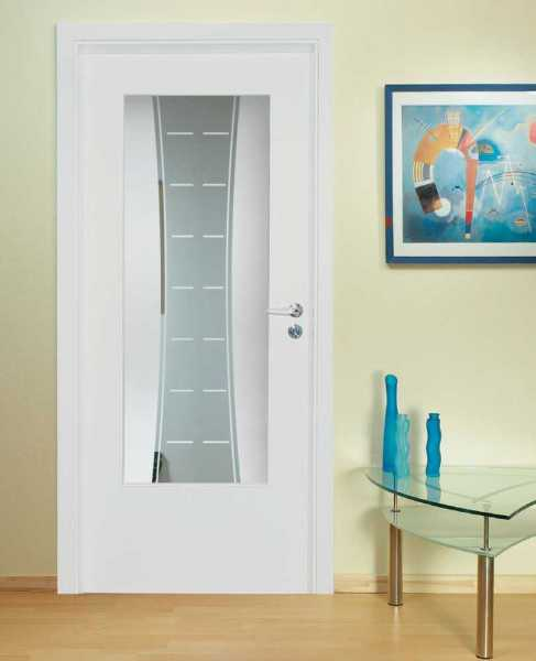 MDF Hinged Doors with Glass Insert HMDI-0007