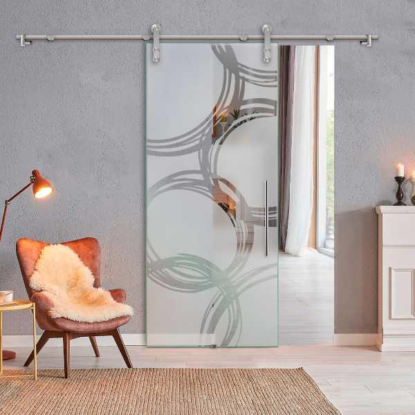 Sliding Glass Barn Door SGD-V1000-0127