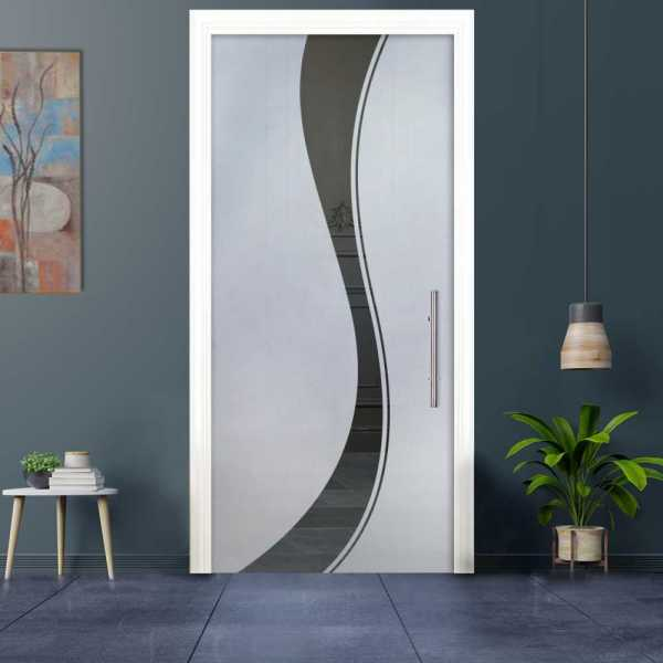 Sliding Pocket Glass Door with Frosted Design and Replacement Hardware PSGD-0021