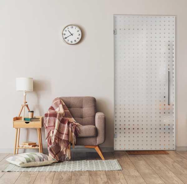 Pivot Glass Door (Model SD-0042 Semi-Private)