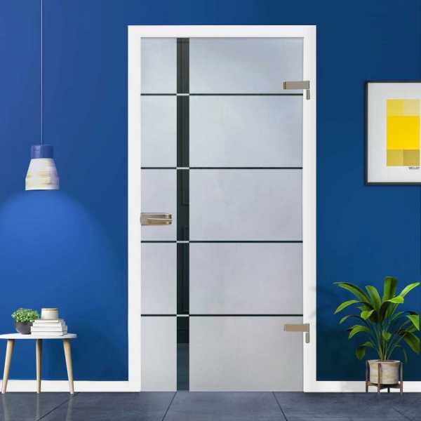 """30"""" x 80"""" Hinged Glass Door HGD-H+H-0047 Semi-Private """"Open Box"""""""