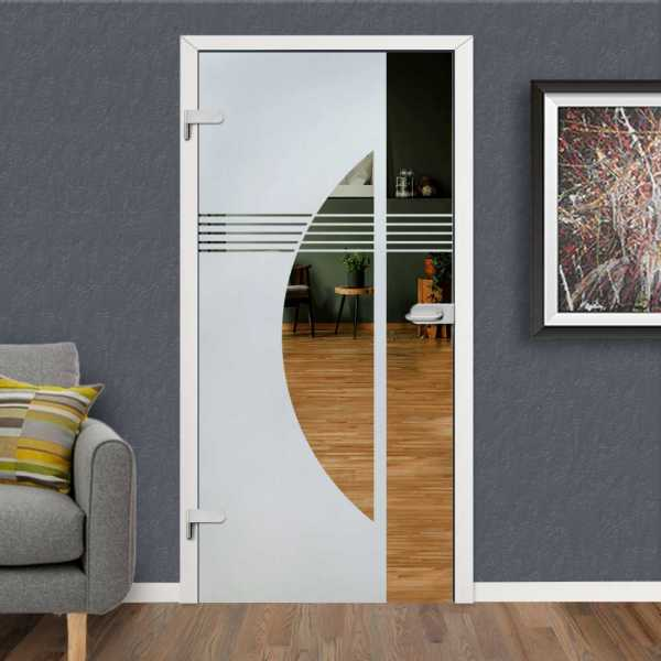 Hinged Glass Door HGD-H+H-0113 (Semi-private)