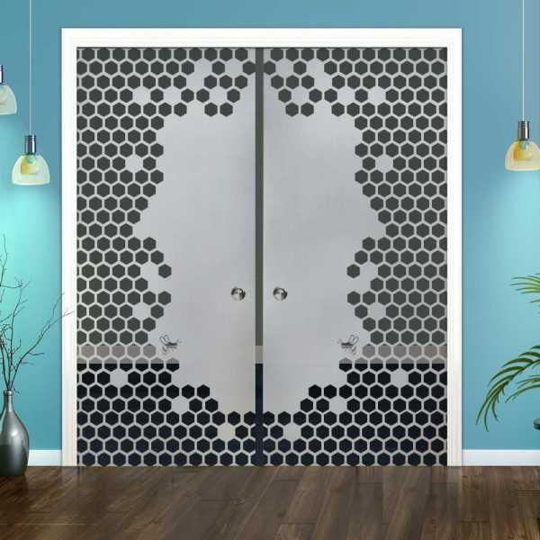 Double Pocket Glass Barn Door (Model DPSGD-0107 Semi-Private)_Recessed Grip Handle
