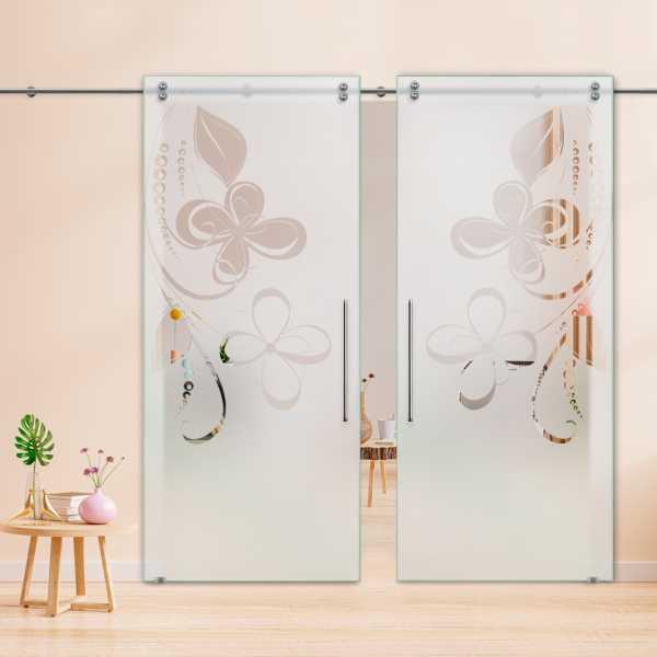 Glass Barn Door (Model DSGD-V2000-0046 Semi-Private)