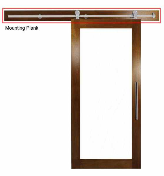 Mounting Plank for Wood Doors