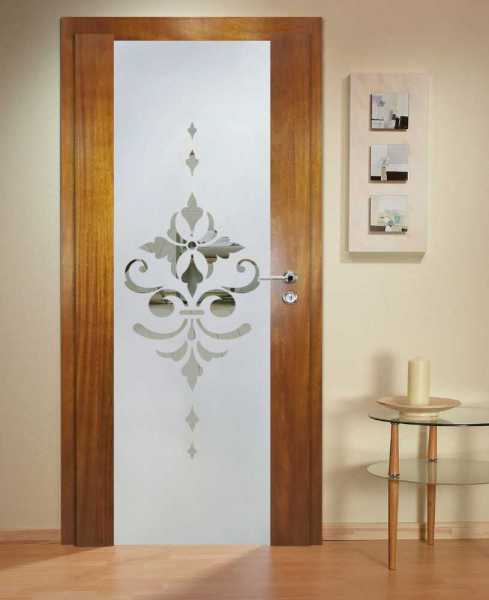 Solid Wood Hinged Door with Glass Insert HWDI-0025