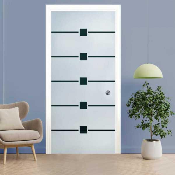 Pocket Glass Barn Door (Model PSGD-0128 Semi-Private)