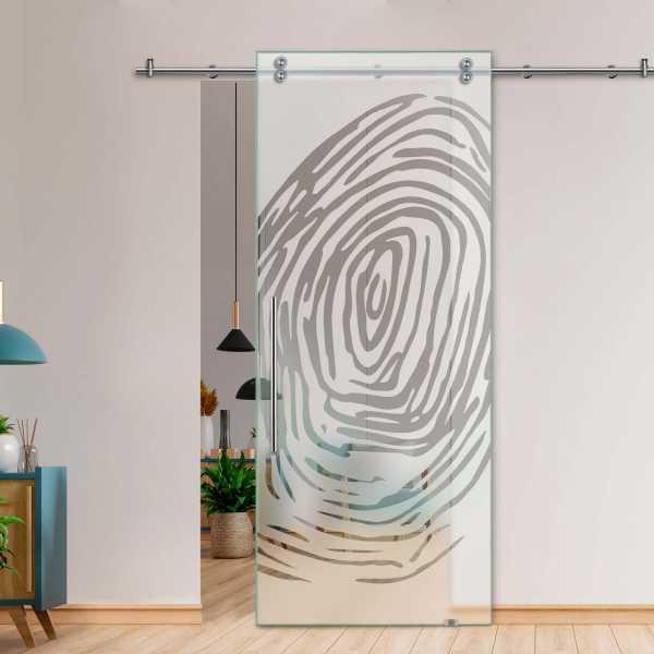 Glass Barn Door (Model SGD-V2000-0219 Semi-Private)