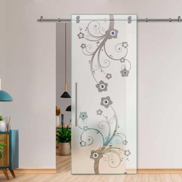 Glass Barn Door (Model SGD-V2000-0042 Semi-Private)