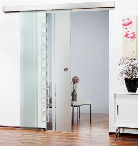 Sliding Glass Barn Door SGD-ALU100-0110 semi-private