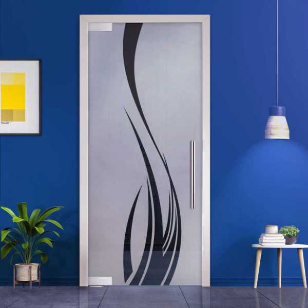 Pivot Glass Door (Model PD-0039 Semi-Private) with Handle Bar