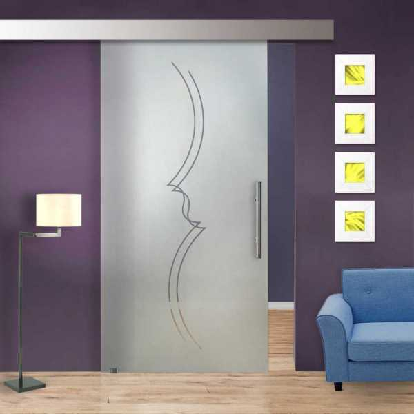 Sliding Glass Barn Door SGD-ALU100-0225